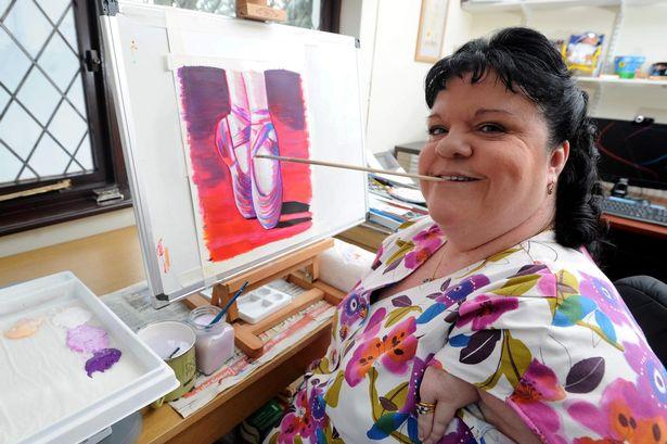 Rosie at work painting