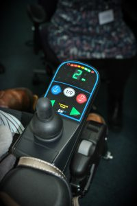 Controls of Invacare TDX lowrider wheelchair