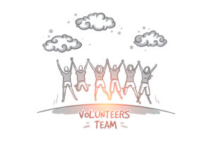volunteers team
