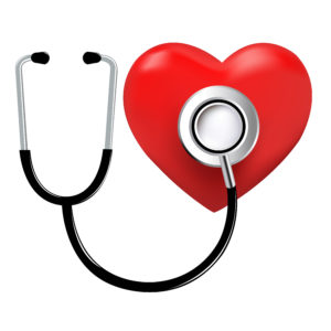 stethoscope checking heart for health