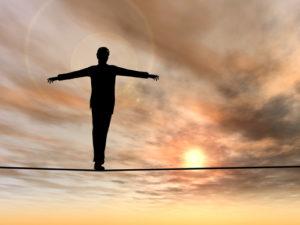 balancing person