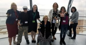 beneficiaries and thalidomide trust staff at a local event in brighton