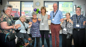 beneficiaries at a thalidomide trust open day event to meet others and share information