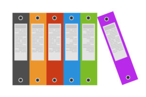 box files of completed research projects