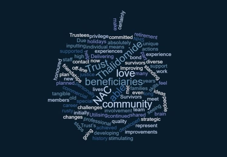 word cloud to show what the NAC members get out of their roles