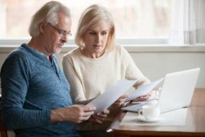 older couple planning details