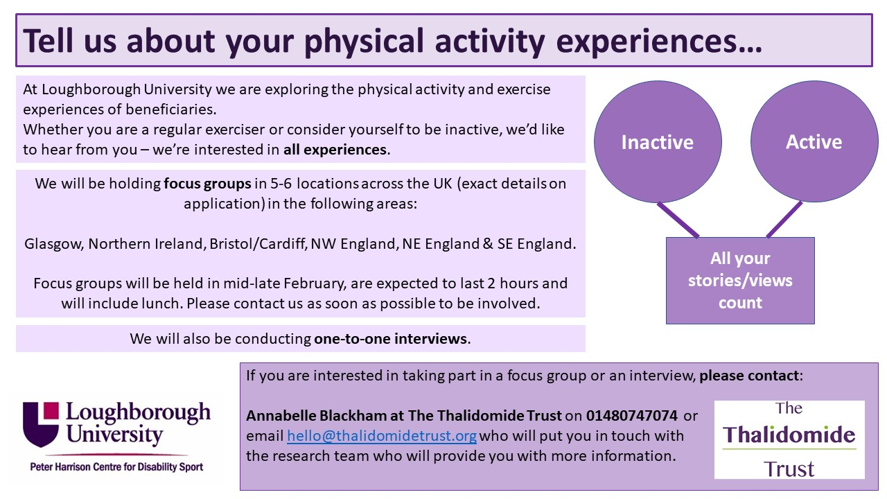 recruitment flyer for physical activities experiences research