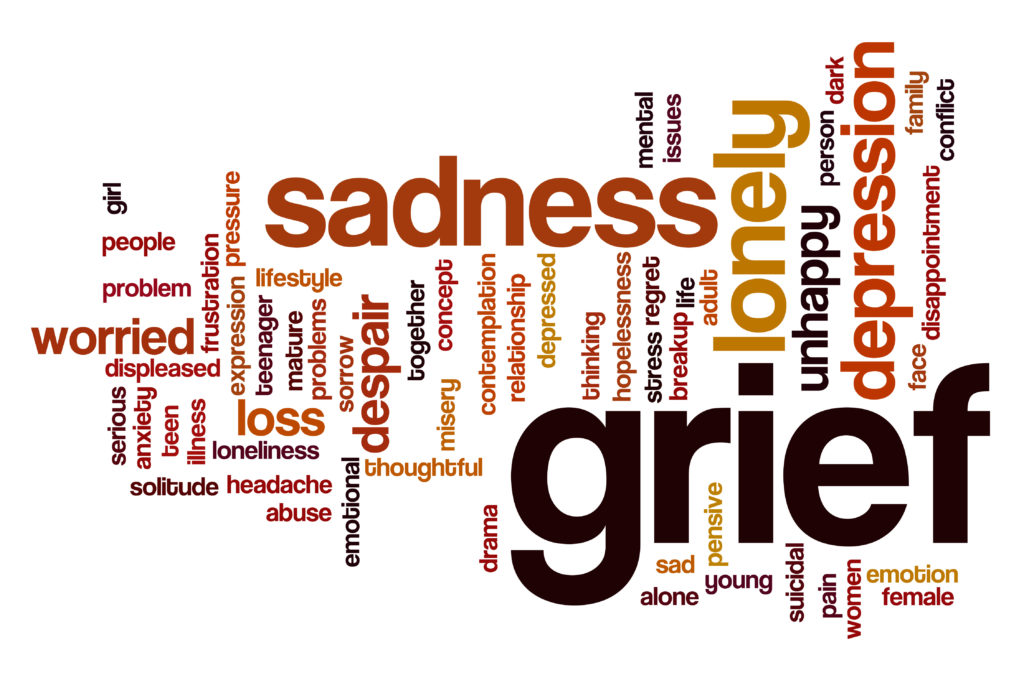 grief word cloud
