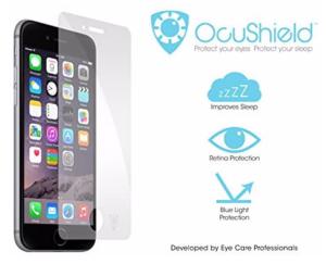 Ocusheild screen for iPhone to reduce blue light
