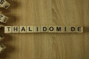 Thalidomide word in blocks