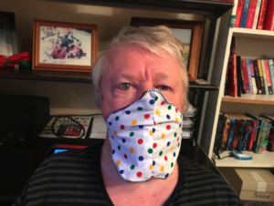 Phil wearing face mask front view