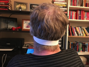 Phil wearing face mask back view