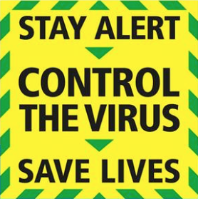 coronavirus stay alert message