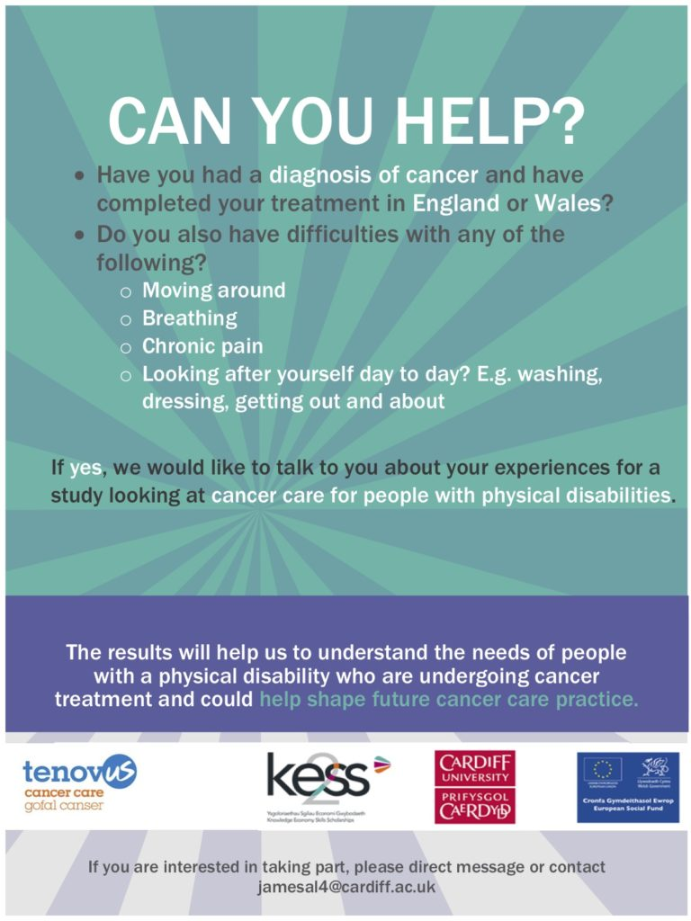 cancer care research recruitment poster