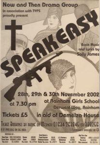 poster advertising Speakeasy musical