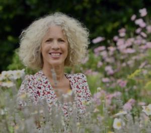 Sue Kent in her garden for BBC Gardener's World show
