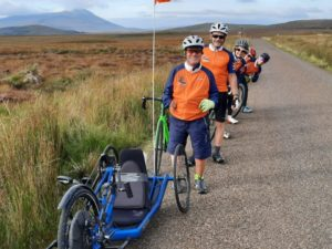 Team Paddison during their North Coast 500 cycle challenge