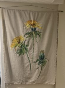 Jacqueline Fleming painted wall hanging