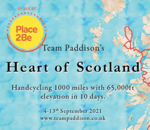 team Paddison hand cycling 1000 miles in 10 days